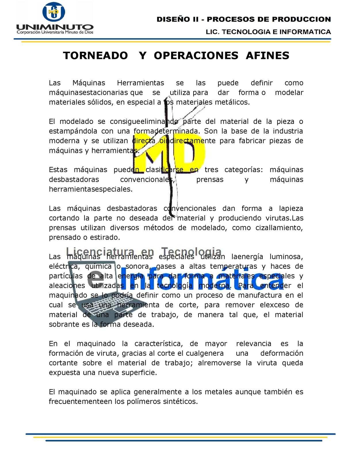 Calaméo - TORNEADO Y OPERACIONES AFINES