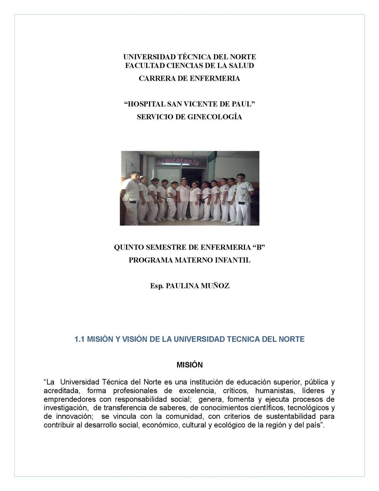Calaméo - INFORME FINAL DE LA PRACTICA DE GINECOLOGIA