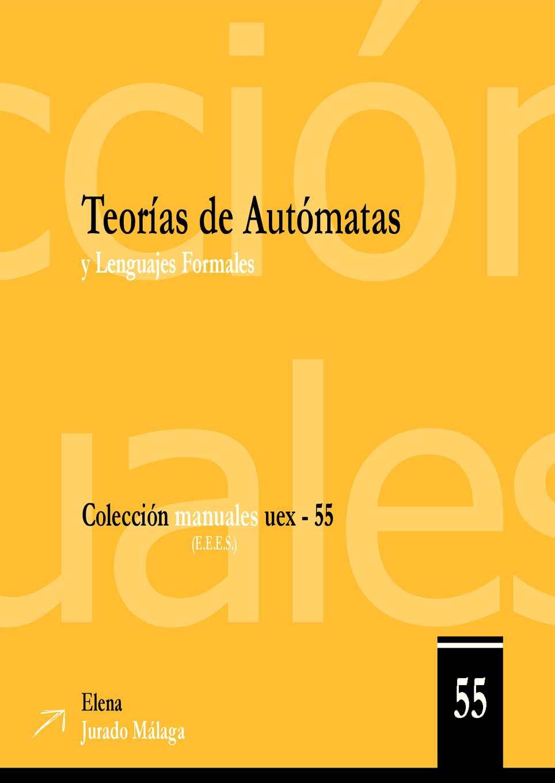 Libro de Teoría de Autómatas y Lenguajes Formales