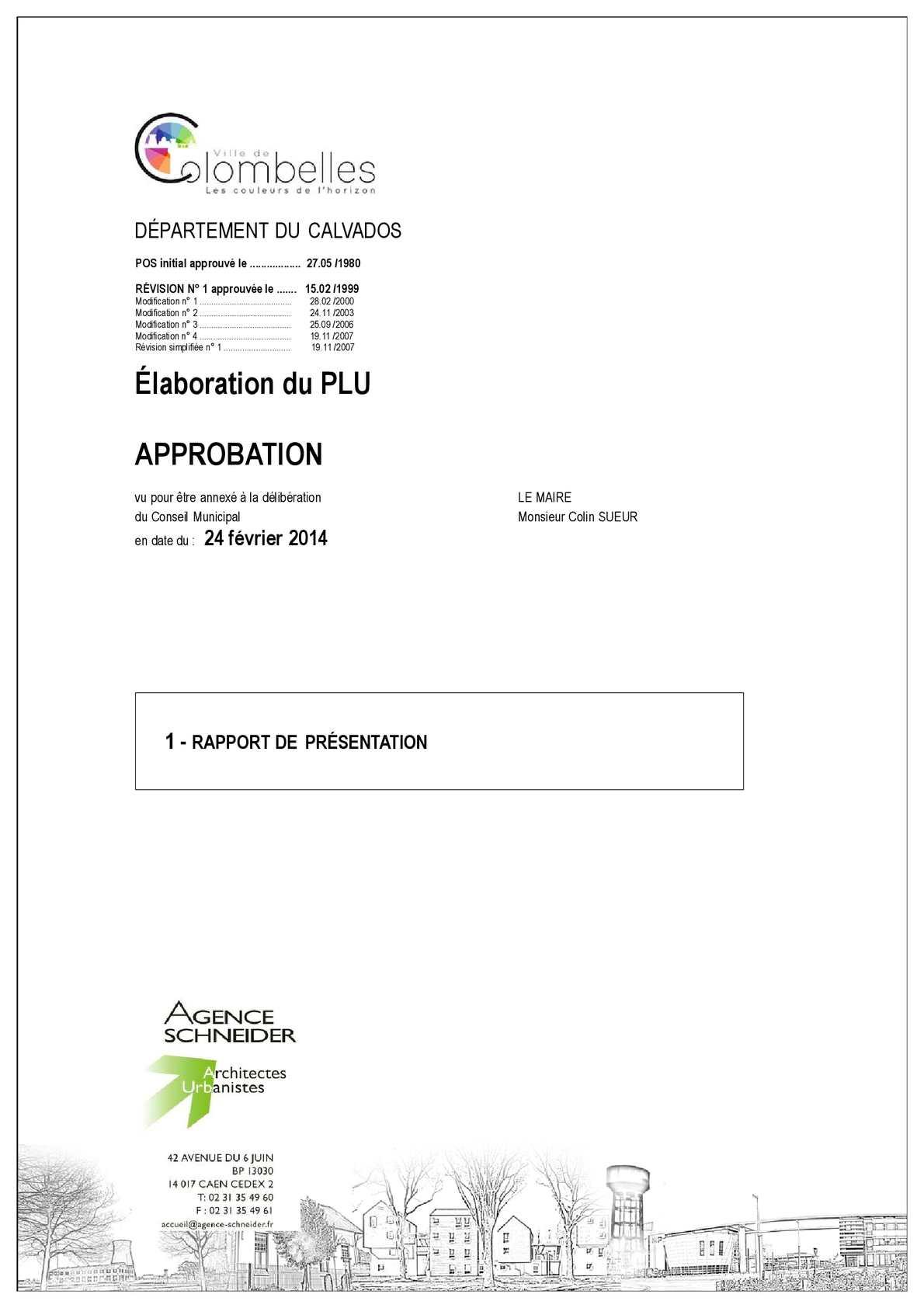 PLU Colombelles_Rapport de présentation