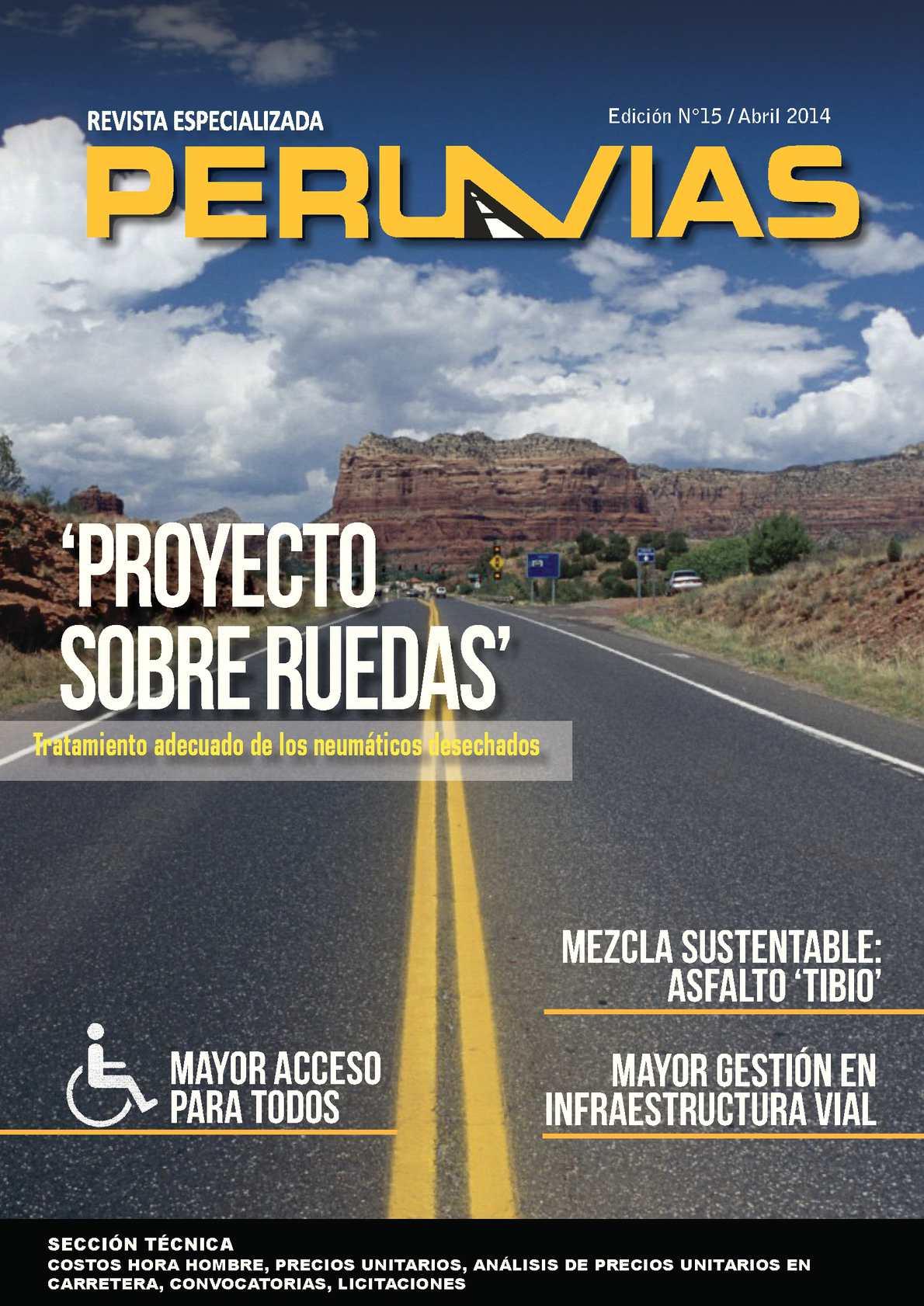 Revista Perú Vías Edición N° 15
