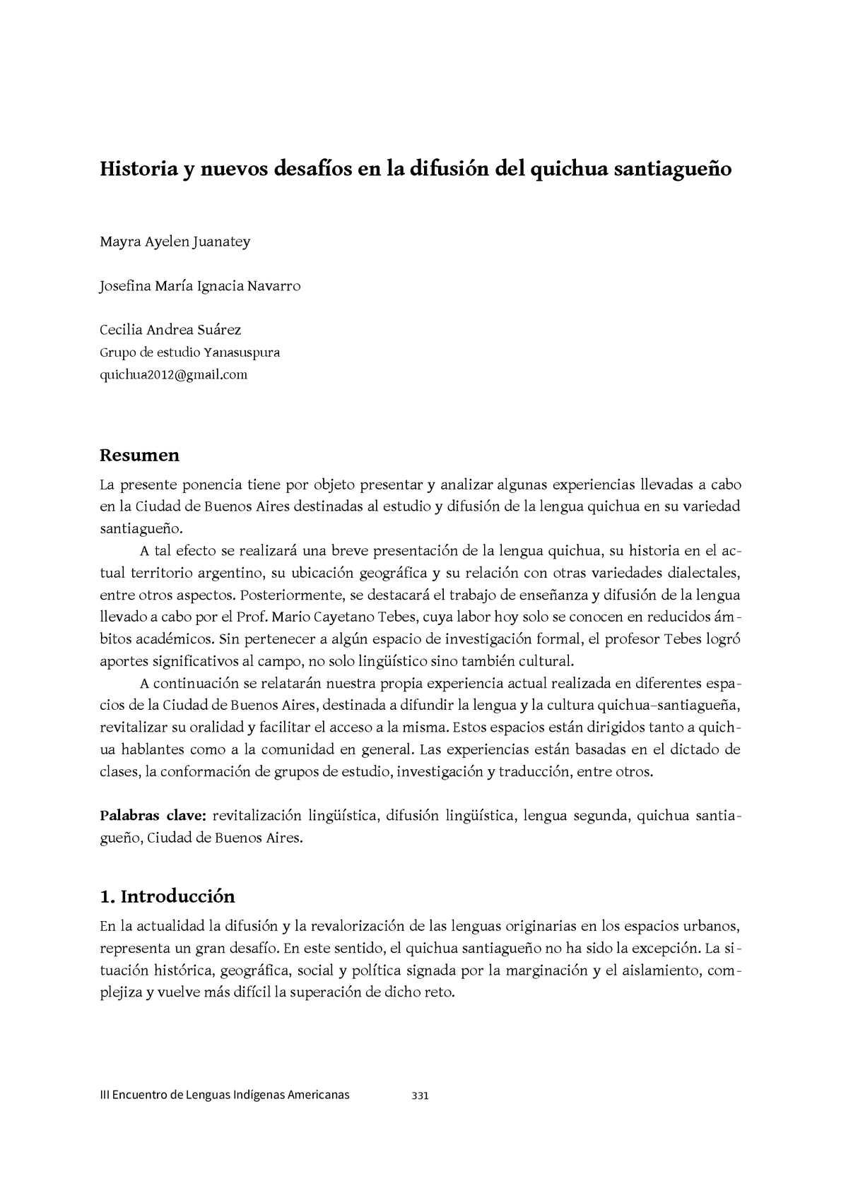 Calaméo - III Encuentro de Lenguas Indígenas Americanas (ELIA) Parte II