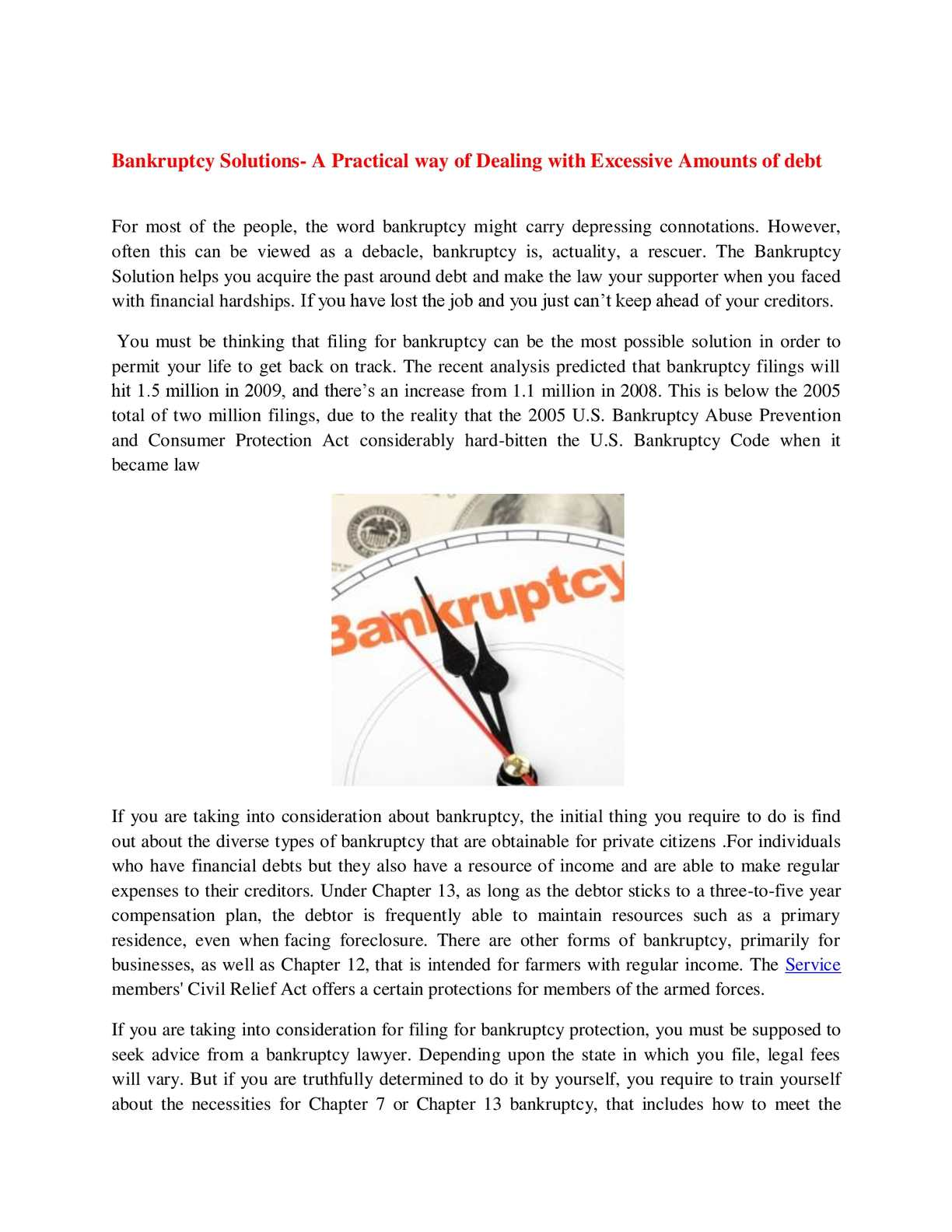calaméo - bankruptcy solutions- a practical way of dealing with