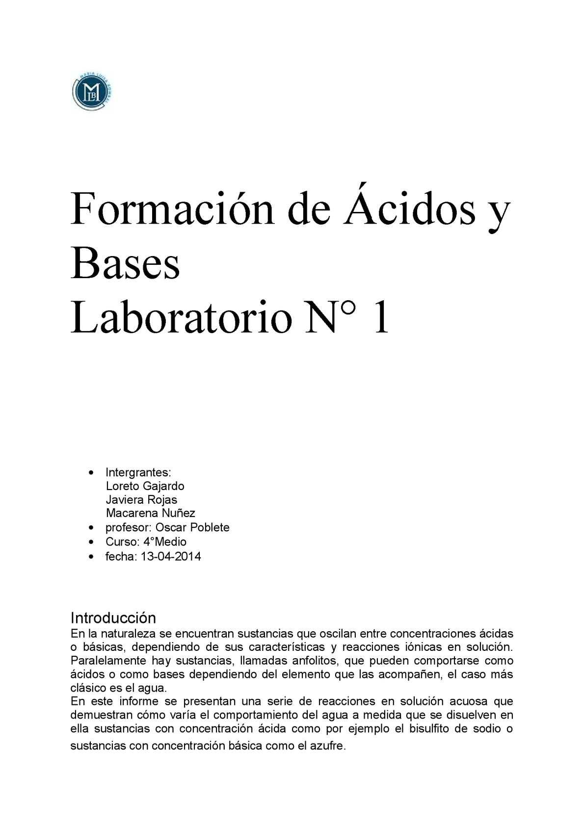 acidos y bases pdf bachillerato
