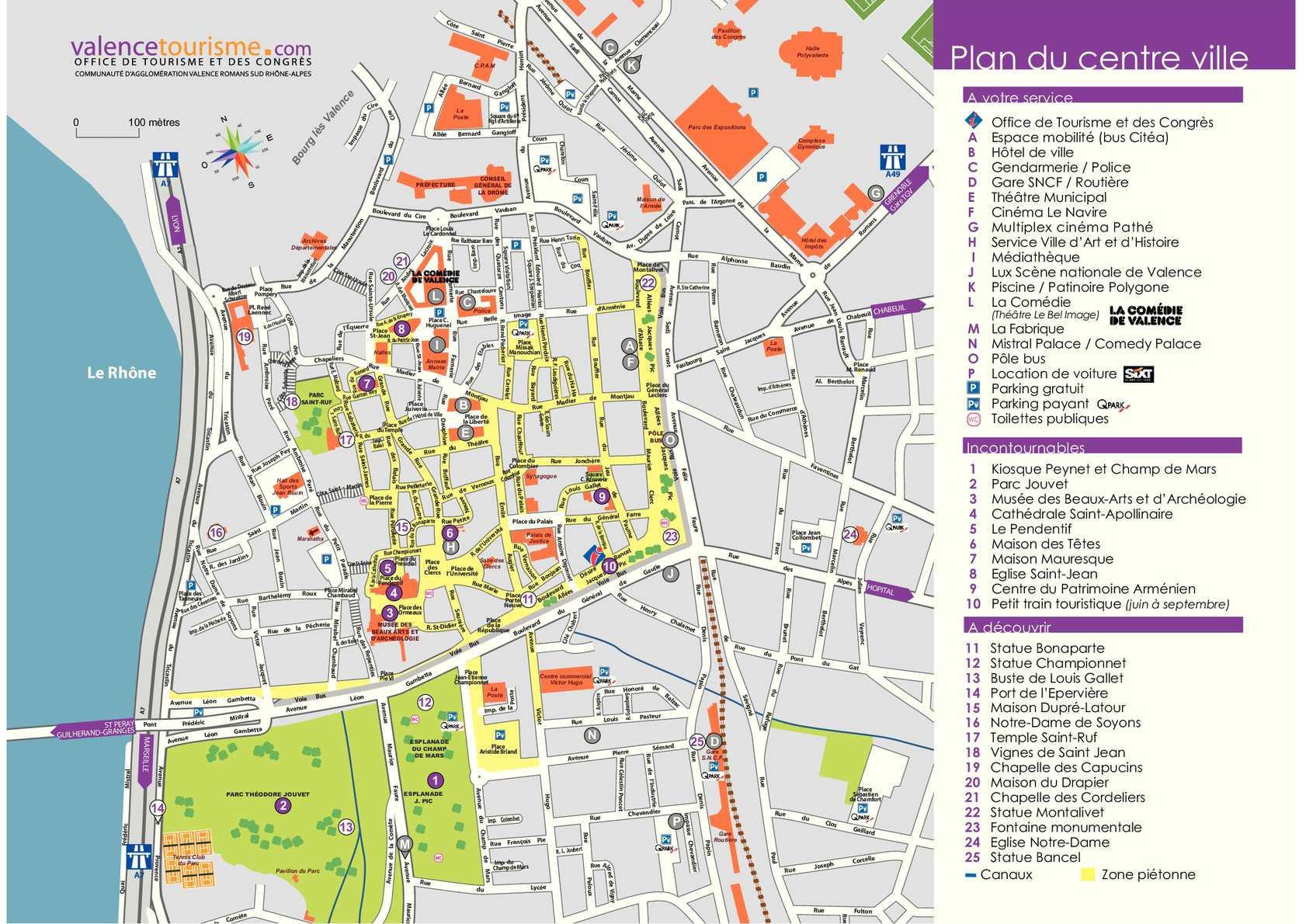 Plan De La Gare De Valence Ville