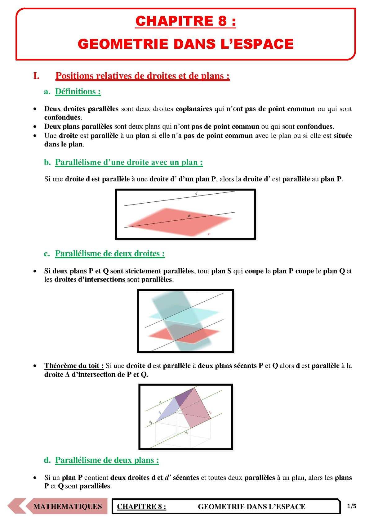 TS - MATHS - Chapitre 8 | JéSky.fr