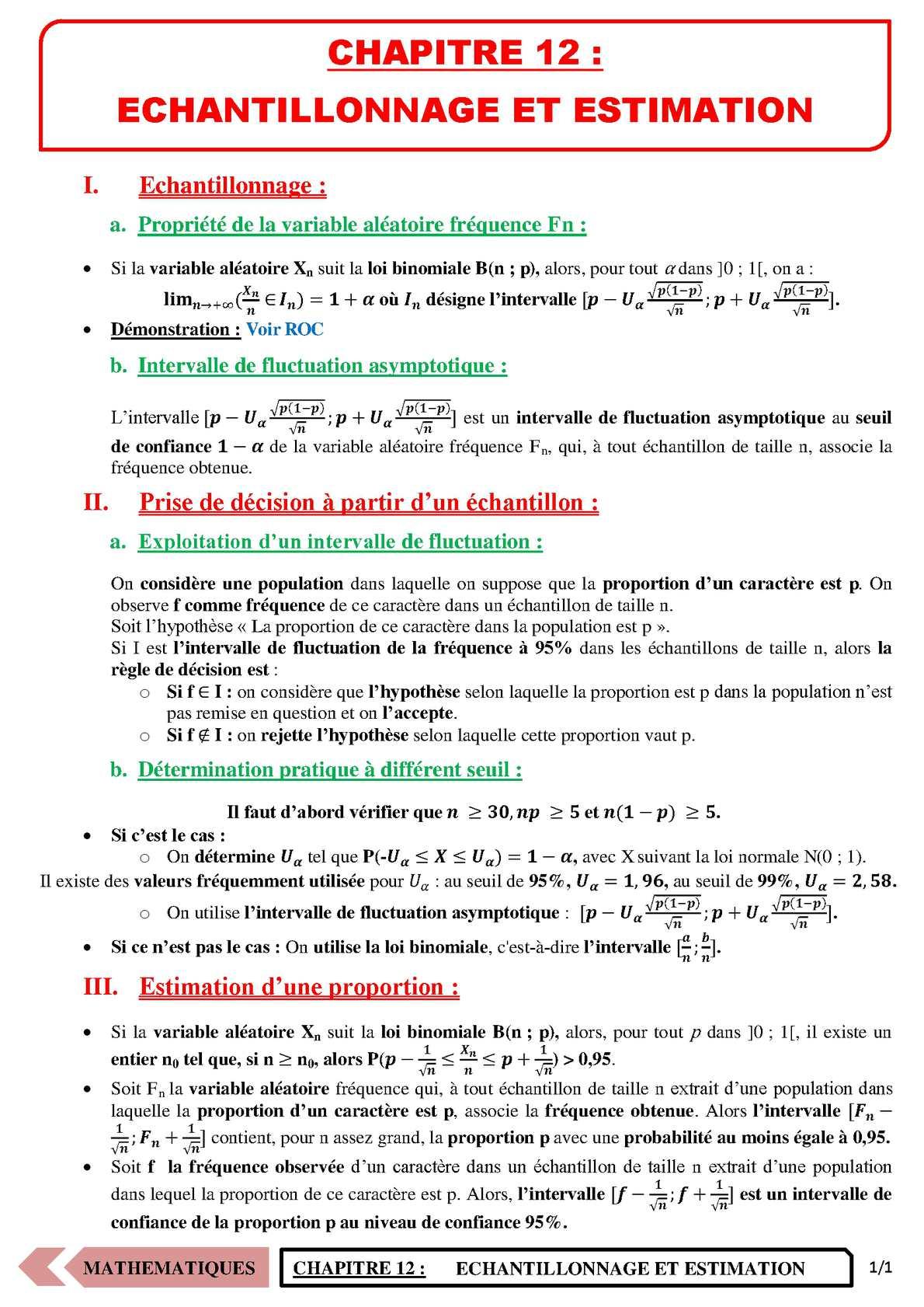 TS - MATHS - Chapitre 12 | JéSky.fr