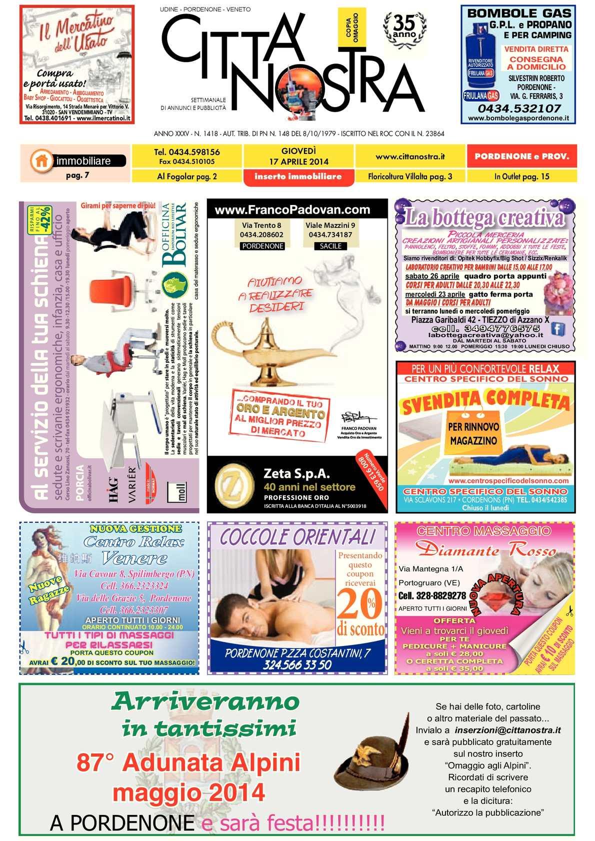 Calaméo - Città Nostra Pordenone del 17.04.2014 n. 1418 bd993ee5ad8