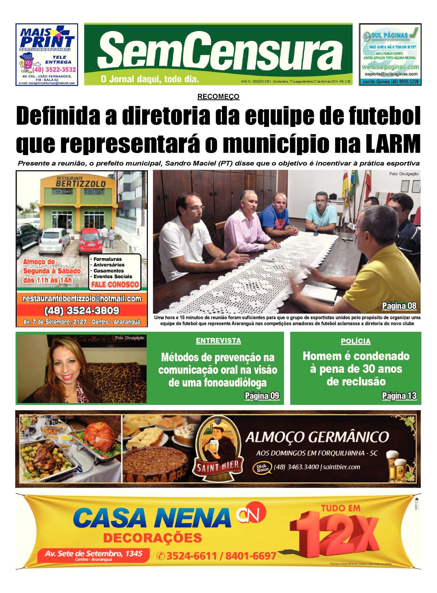 Calaméo - Jornal Sem Censura - Edição 2431 32c36509392dd