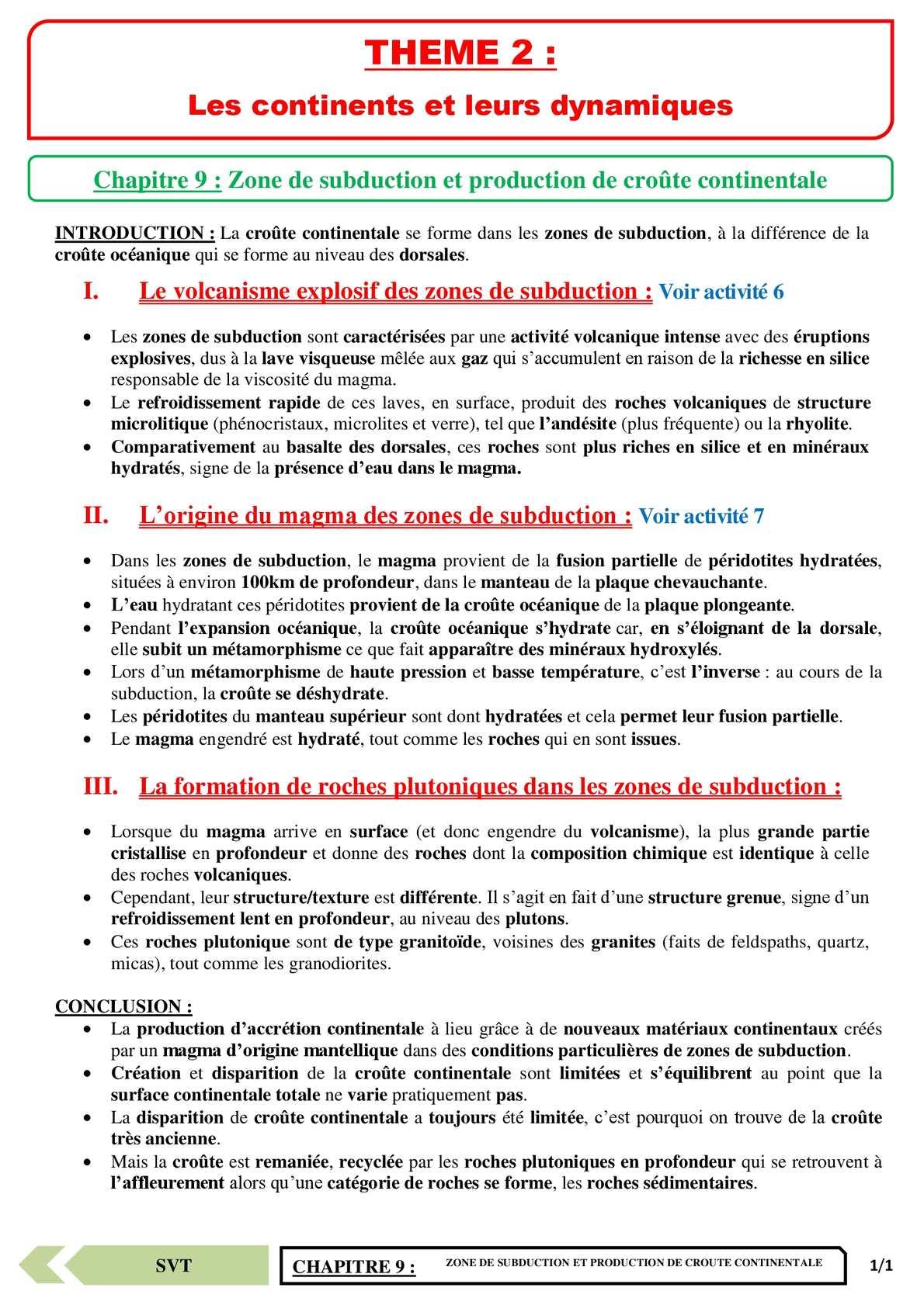 TS - SVT - Chapitre 9 | JéSky.fr