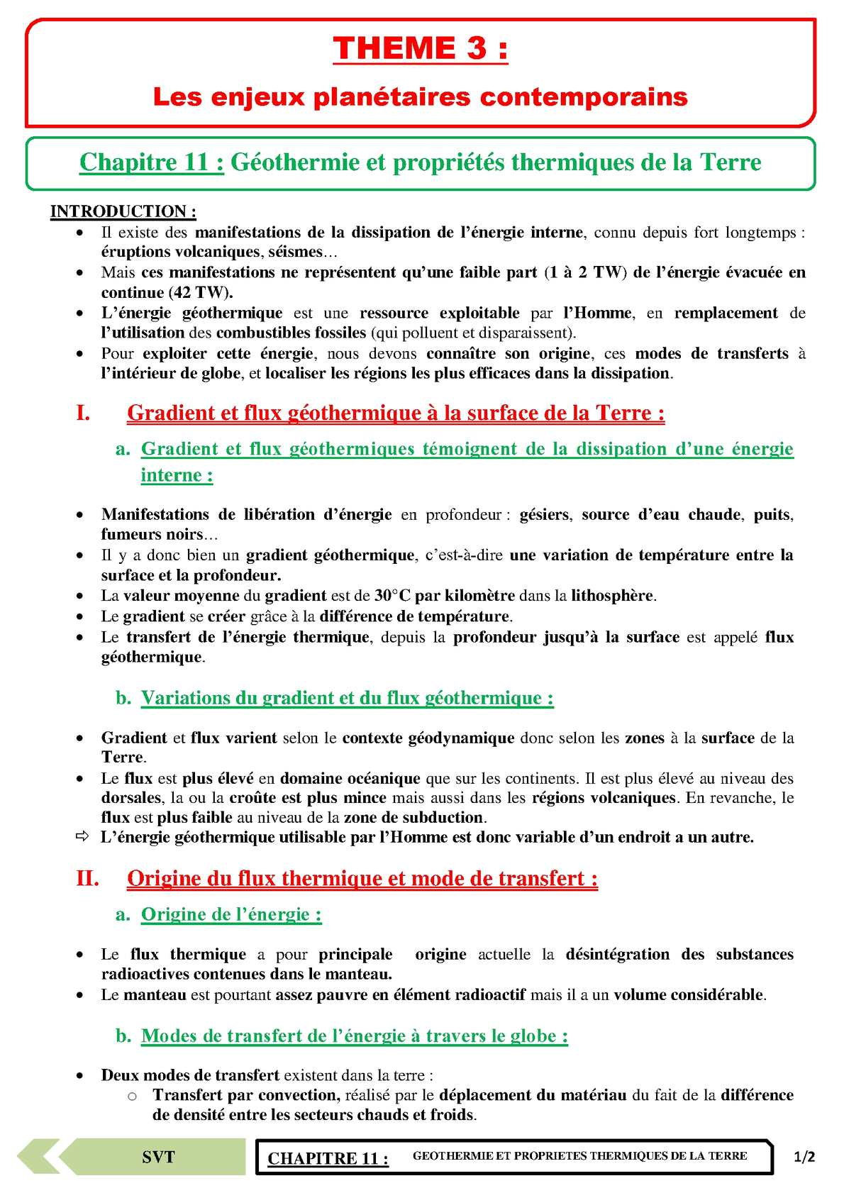 TS - SVT - Chapitre 11 | JéSky.fr