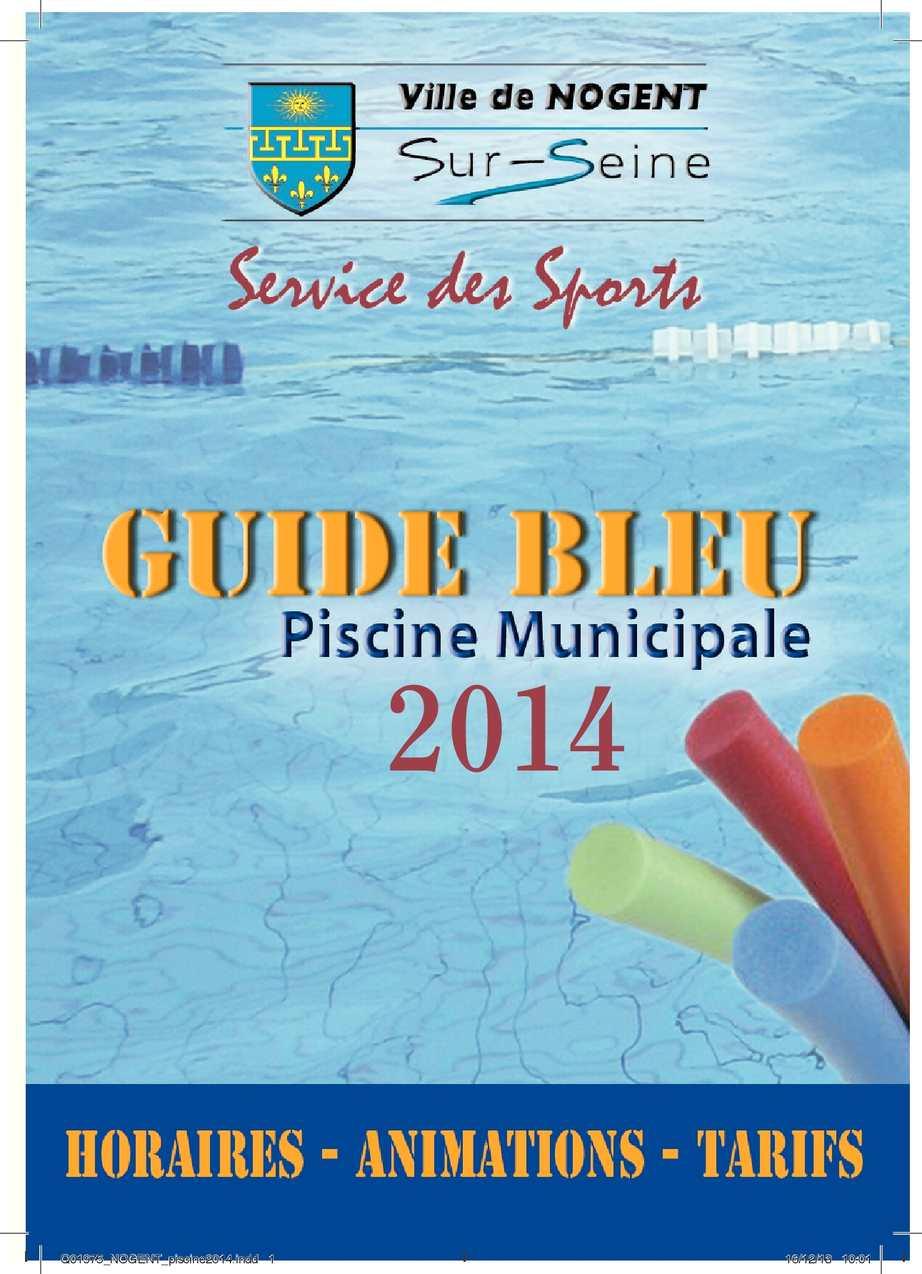 Calam o plaquette 2013 de la piscine municipale de for Plaquette piscine