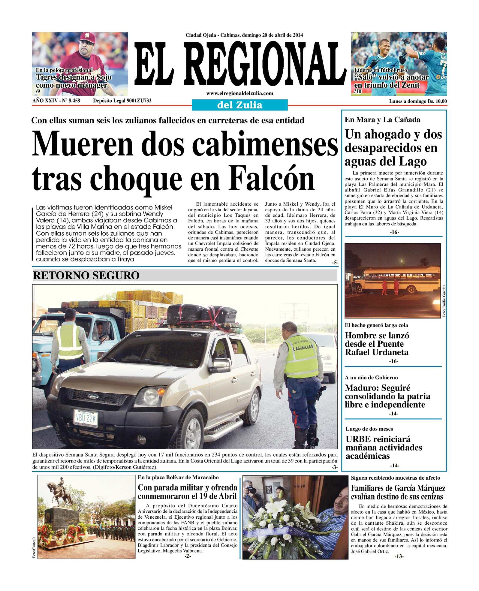 Calaméo - El Regional del Zulia 20-04-2014