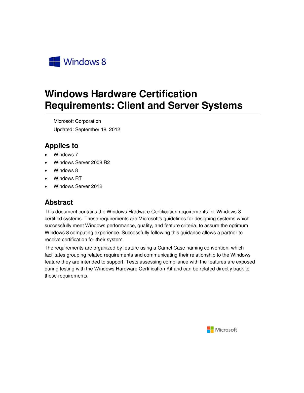 Calamo windows8 hardware cert requirements system 1betcityfo Image collections