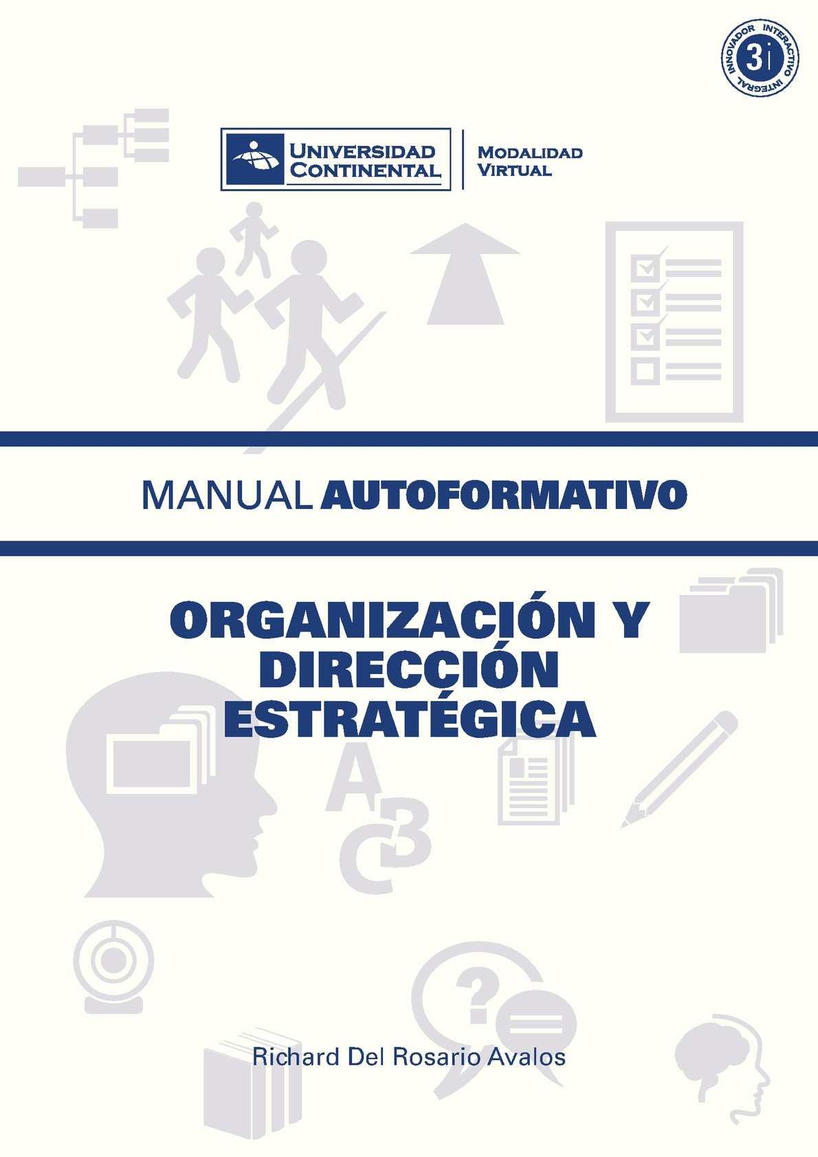 Manual autoformativo Organización y Dirección Estratégica