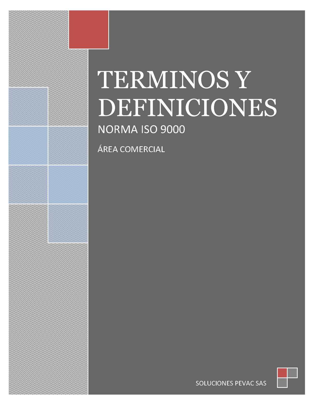 Terminos y definiciones Norma ISO 9000