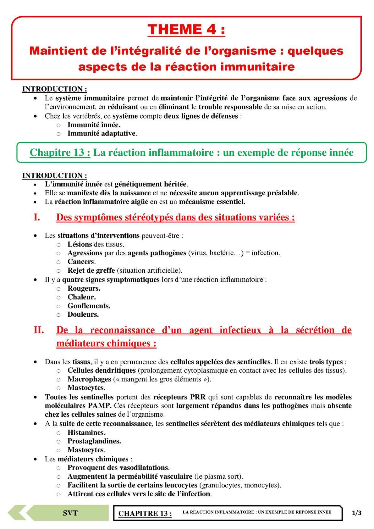 TS - SVT - Chapitre 13 | JéSky.fr