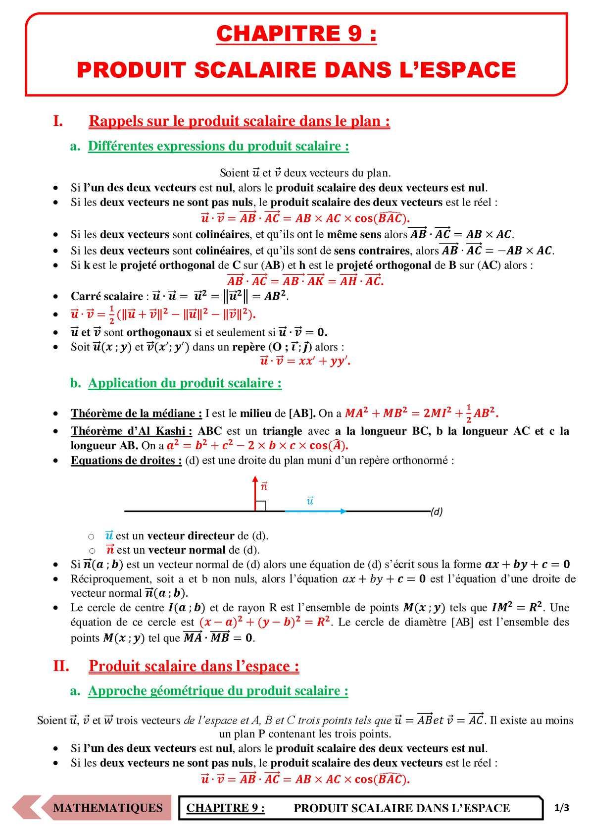 TS - MATHS - Chapitre 9 | JéSky.fr