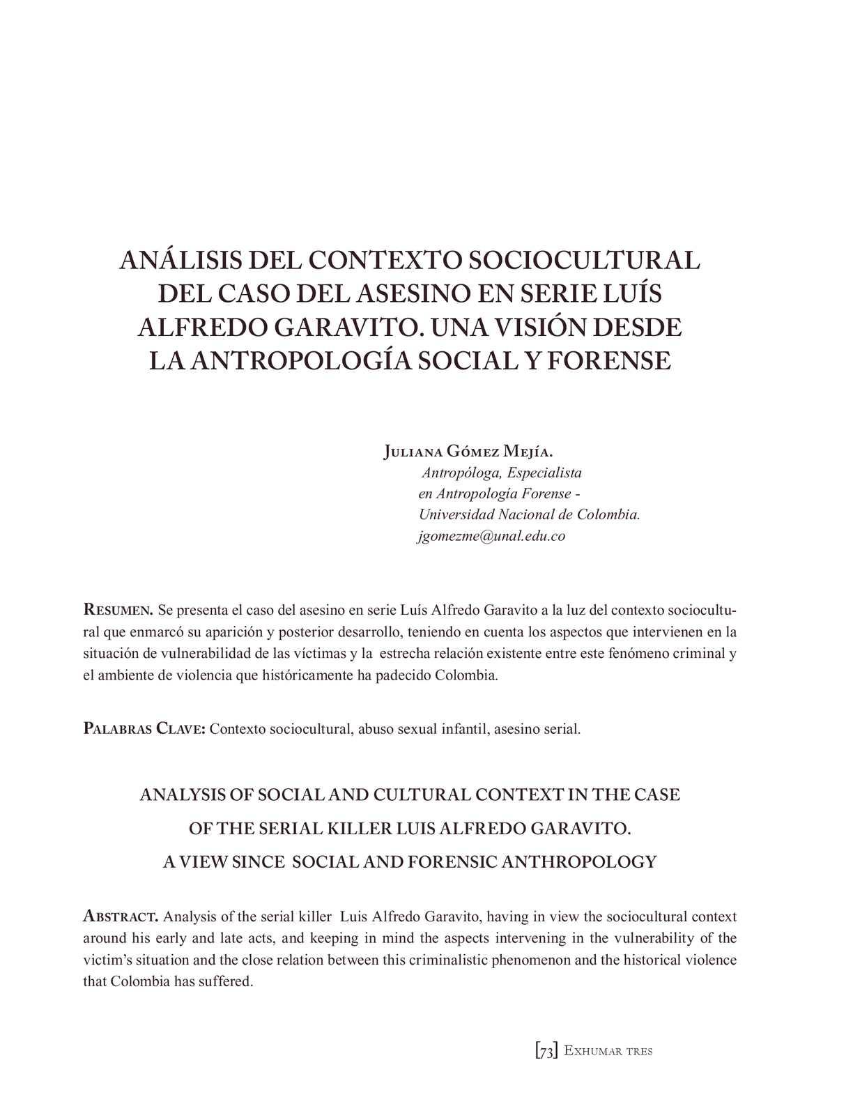 Calaméo - Asesino en serie Colombia