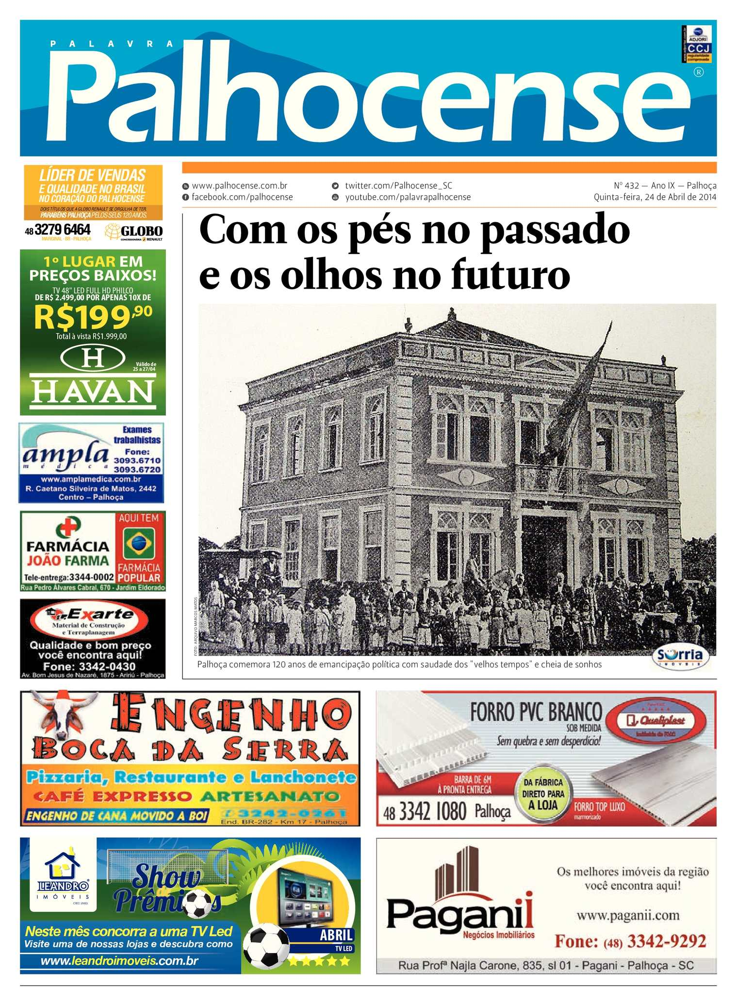 f417f89ea7787 Calaméo - Jornal Palavra Palhocense - Edição 432