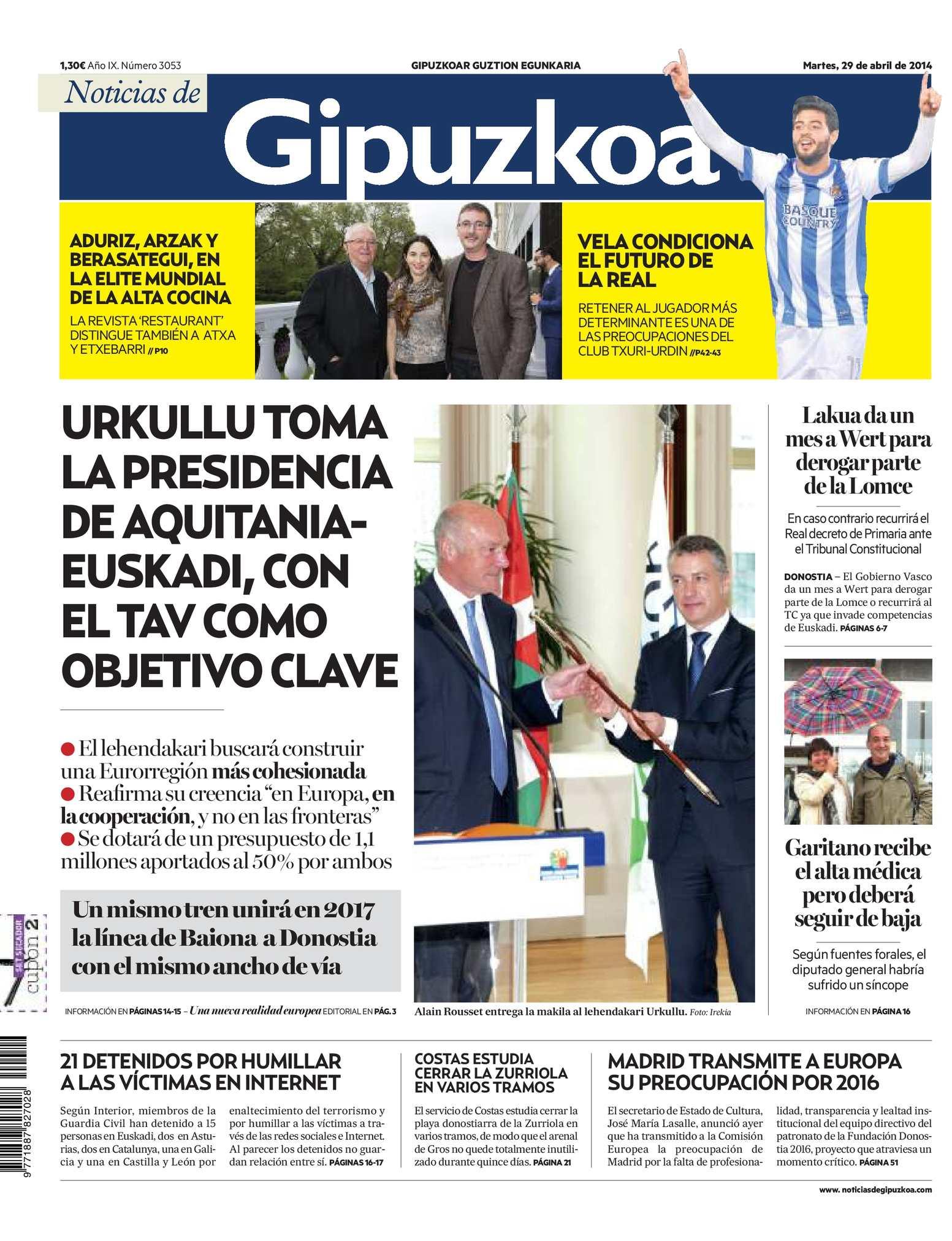 Calaméo - Noticias de Gipuzkoa 20140429