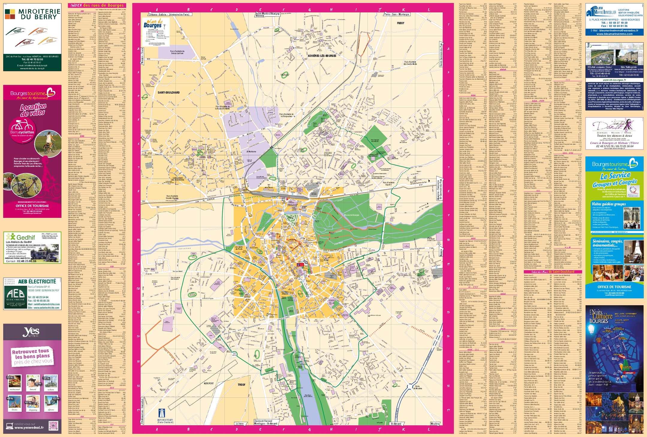 Calam 233 O Plan Indexe Office De Tourisme De Bourges