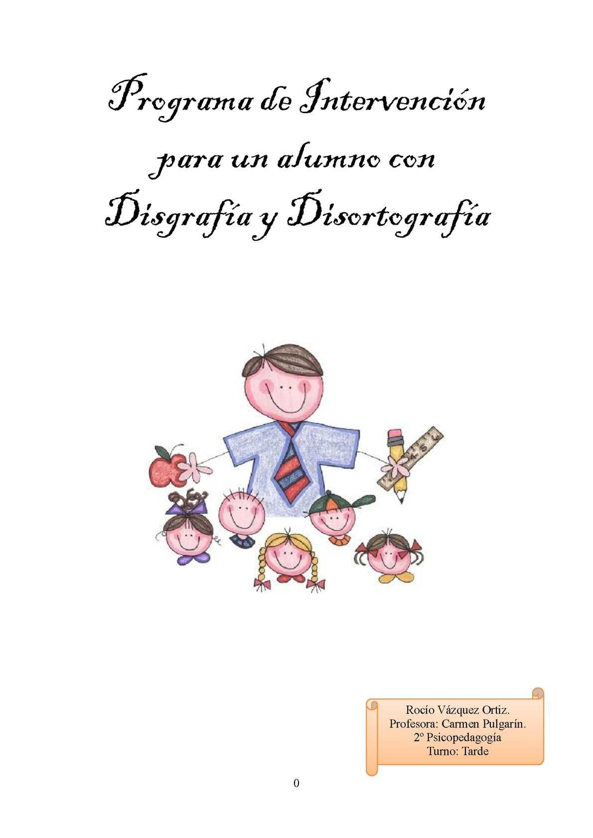 Calaméo - Programa de intervención para un alumno con disgrafía