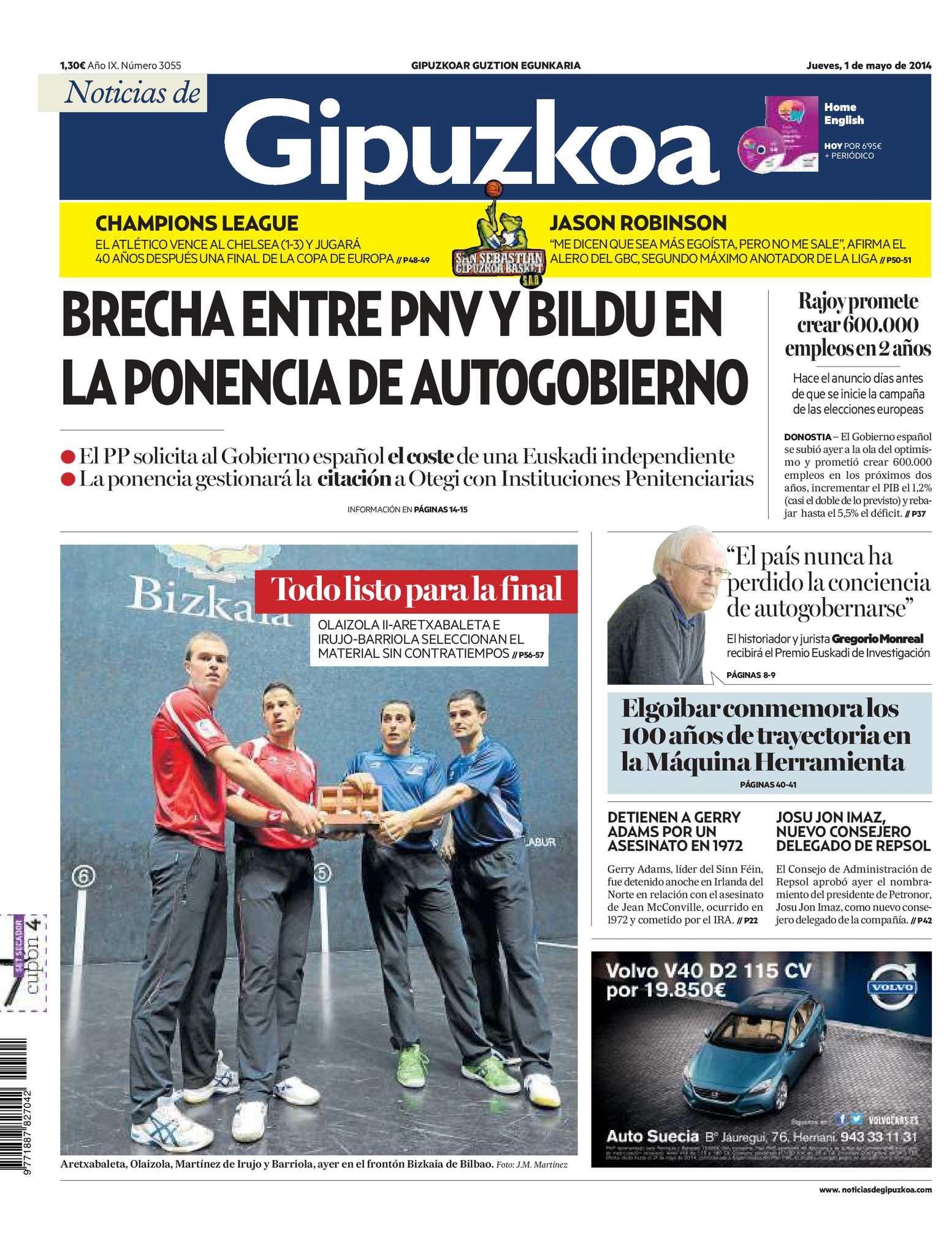 Calaméo - Noticias de Gipuzkoa 20140501