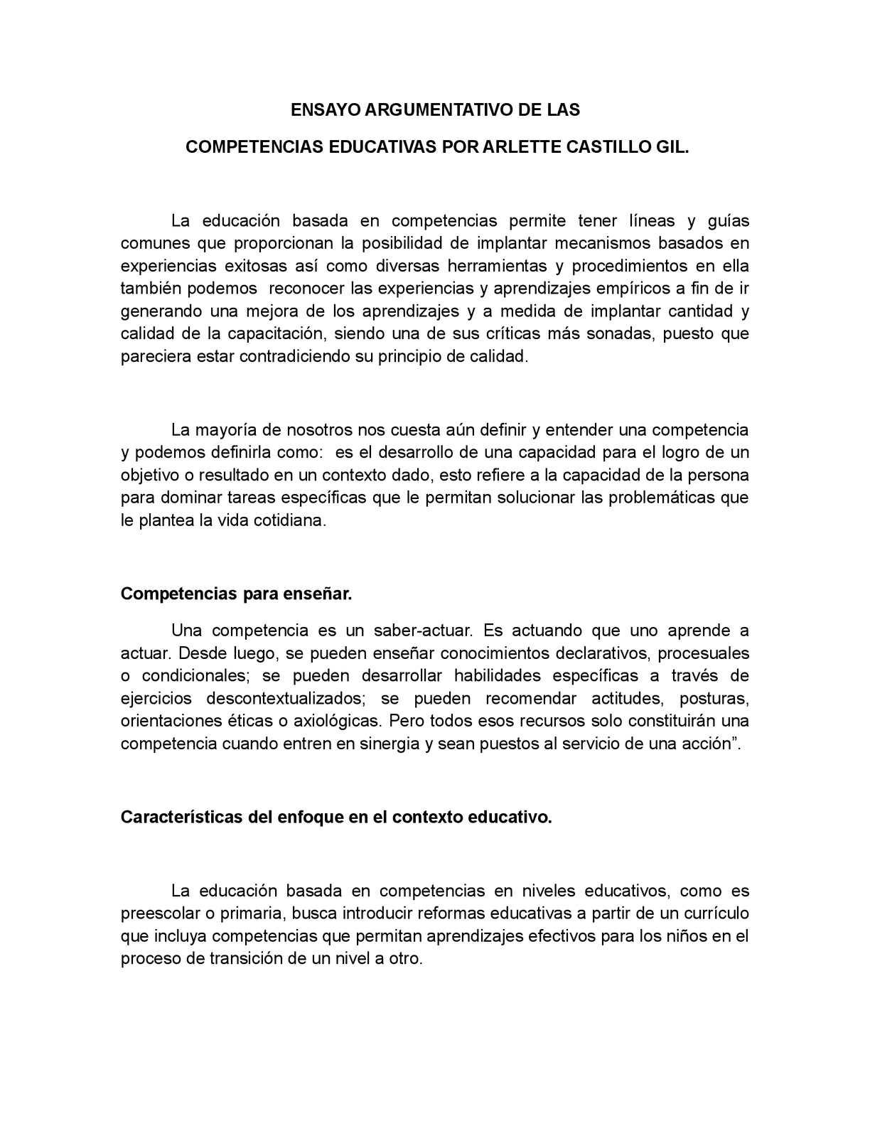 Calaméo - ensayo argumentativo competencias