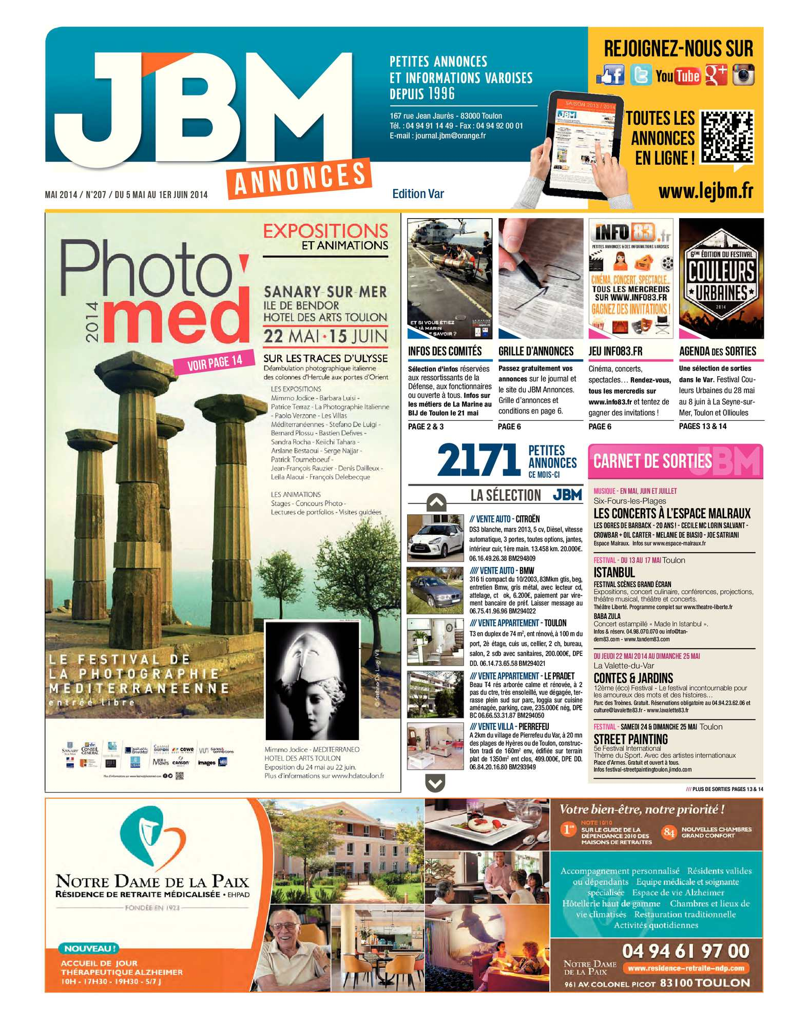 Calaméo Journal JBM Annonces n°207 Mai 2014