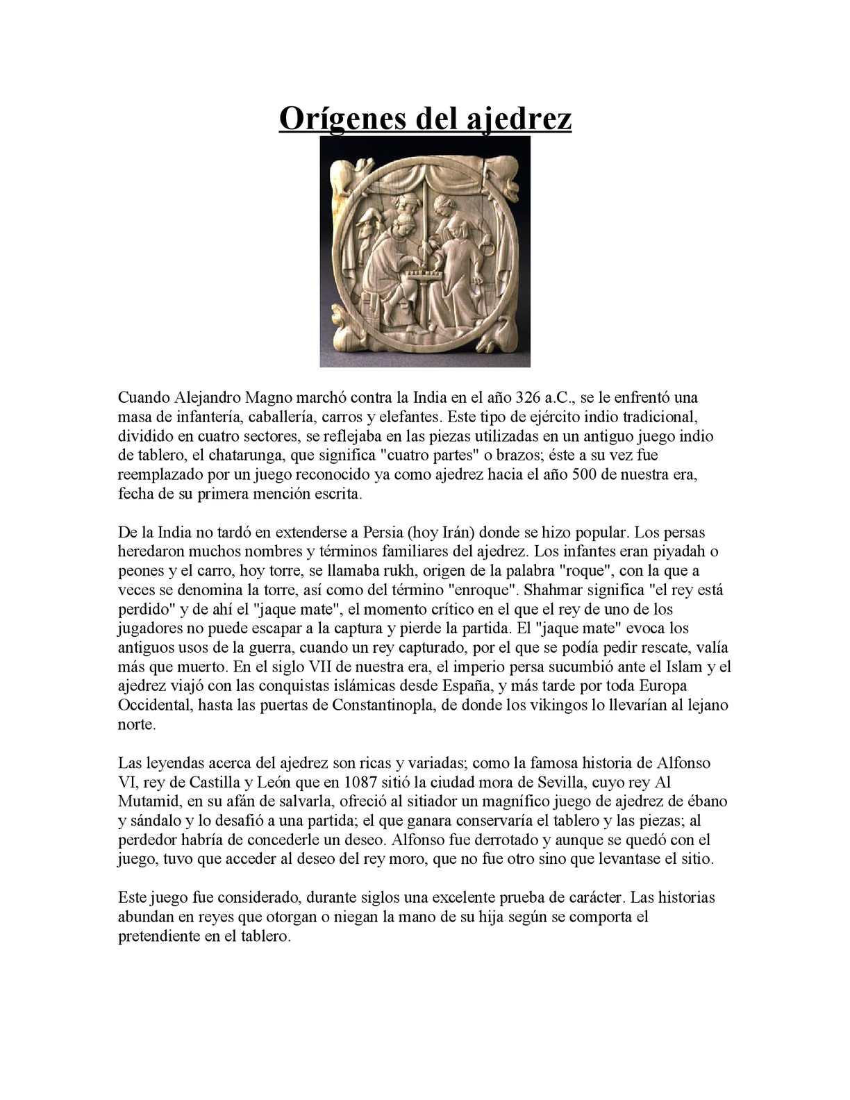 Calaméo - Ajedrez reglas y su historia