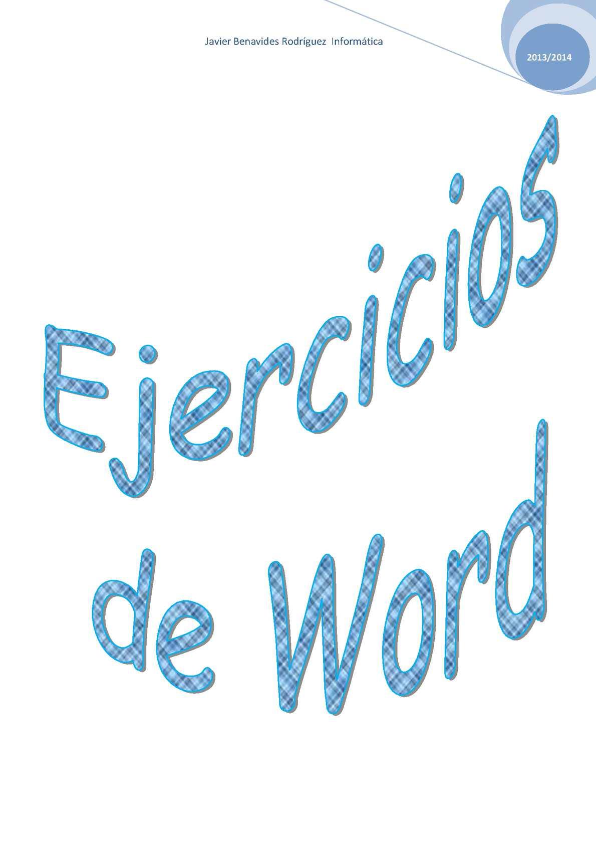 Ejercicios de Word