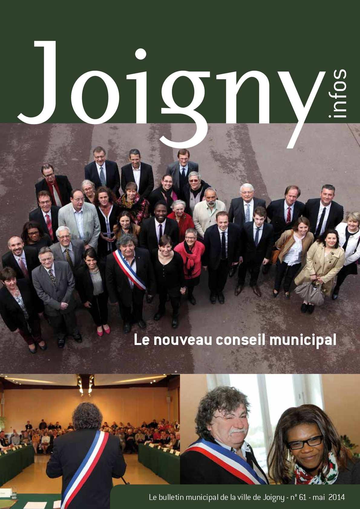 Calam o revue municipale joigny infos mai 2014 for Piscine de joigny