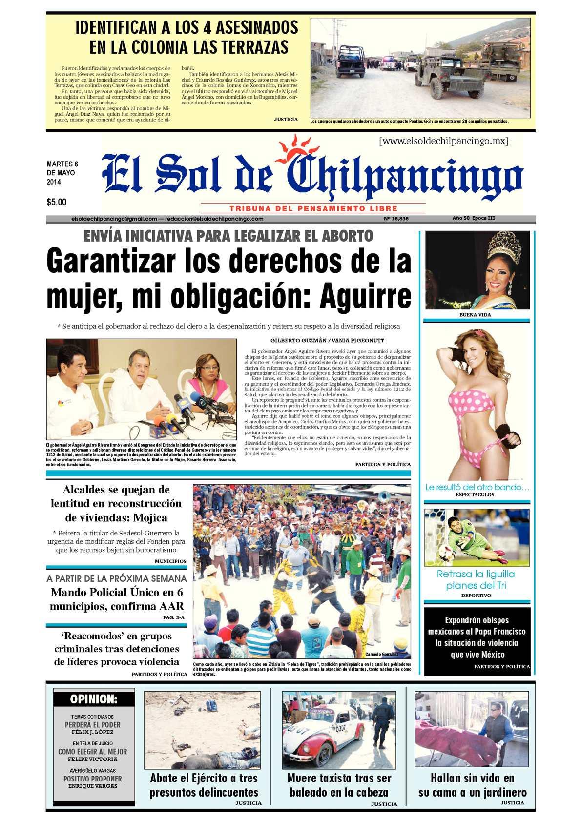 Calaméo - El Sol de Chilpancingo 6 Mayo 2014 b509ed68296ac