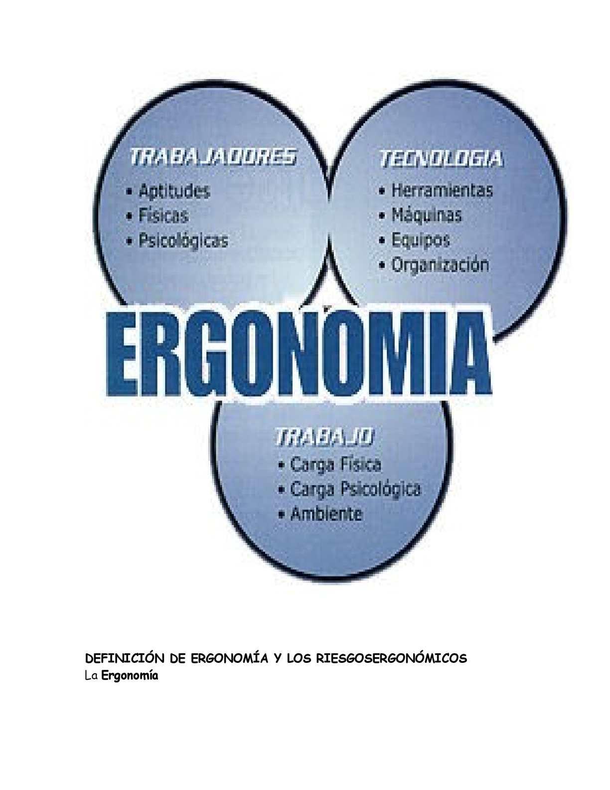 Calam o riesgo ergonomico for Caracteristicas de la ergonomia