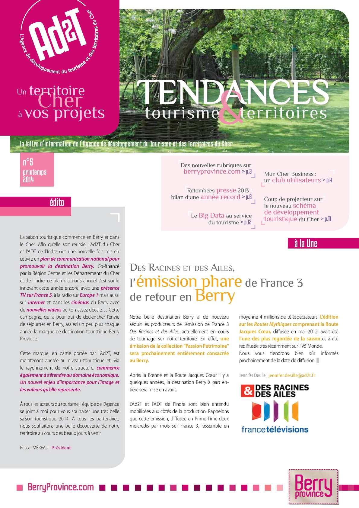 Calam o tendance tourisme et territoires n 5 - Office national de publication et de communication ...