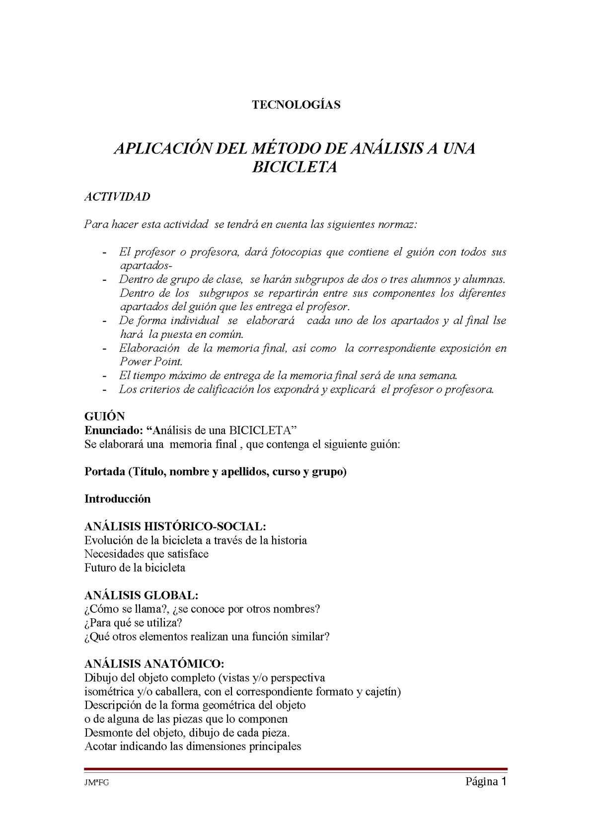 Calaméo - ANÁLISIS DE UNA BICICLETA