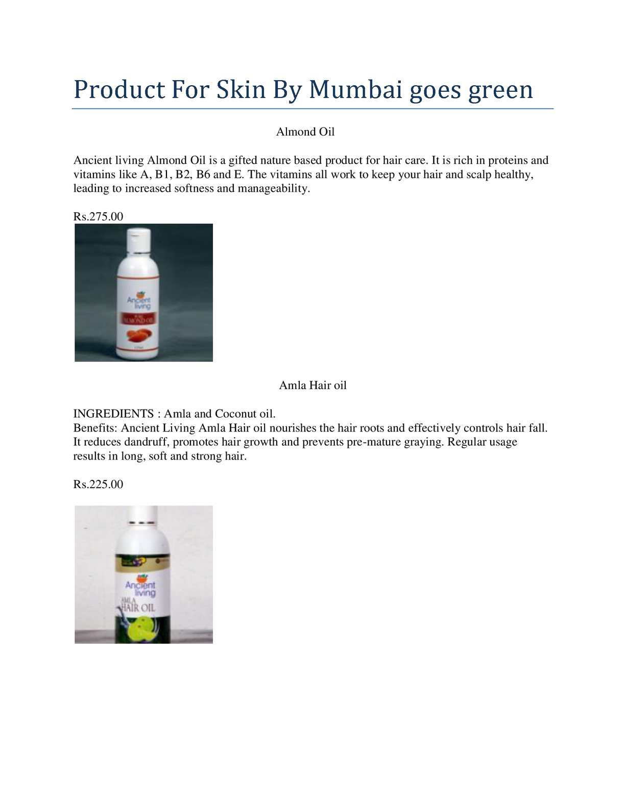 Calamo Product For Skin Mumbai Goes Green Kasturi Oil