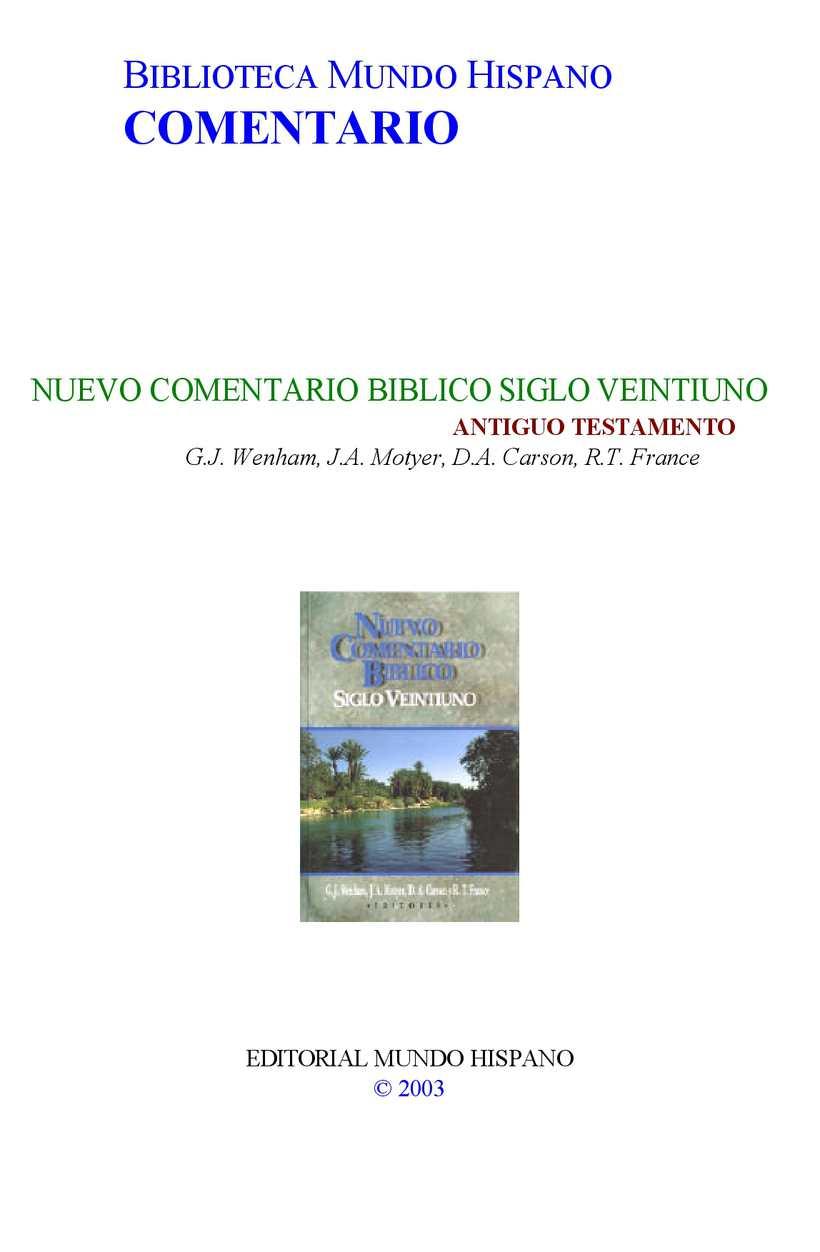 Calaméo - Nuevo-Comentario-Biblico-Siglo XXI Antiguo Testamento