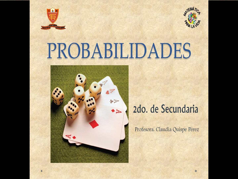 Conceptos básicos para la introducción a las probabilidades