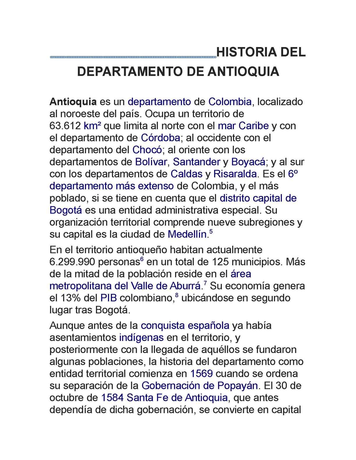 Calaméo - historia del departamento de antioquia