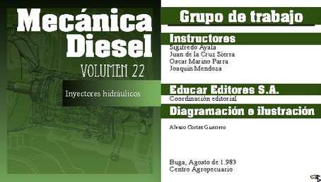 Libro Mecánica Diesel , volumen 22