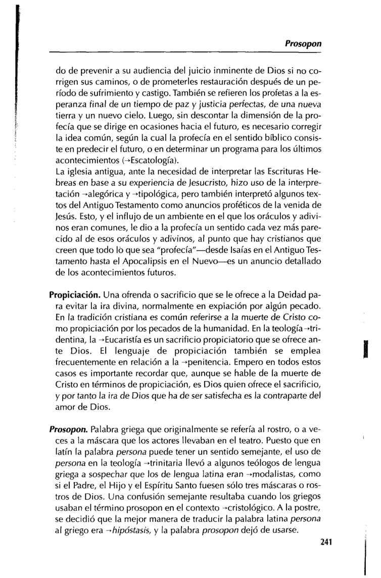 Diccionario Teológico. por: Justo L. González