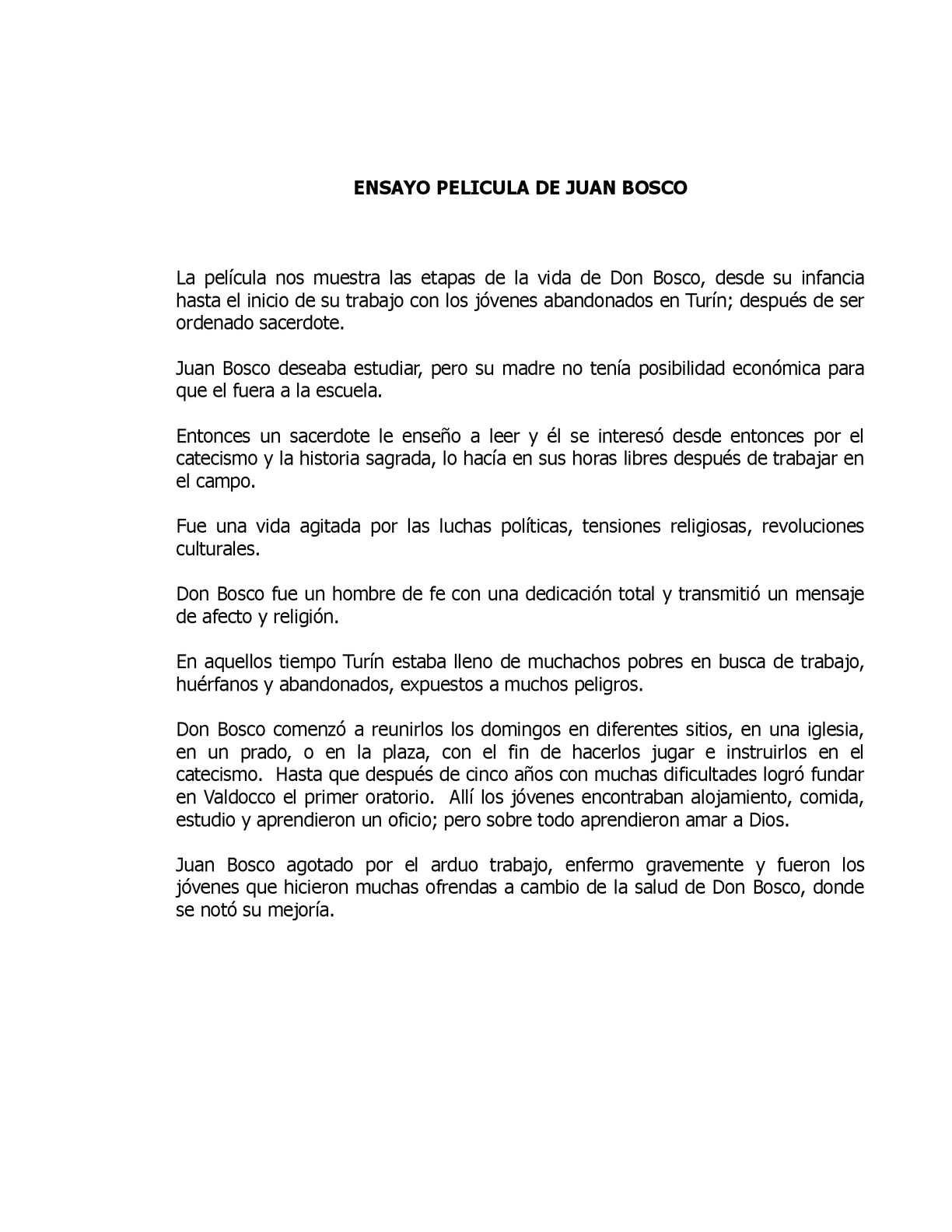 Calaméo - Ensayo Don Juan Bosco