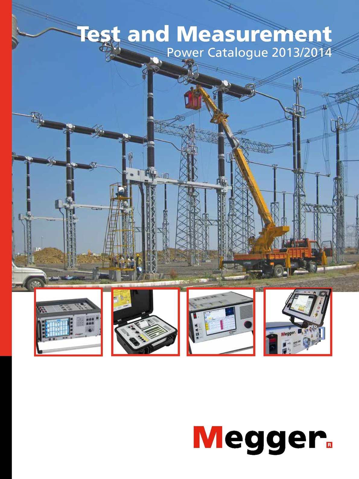 Calaméo - Megger Power Catalogue 2013/2014