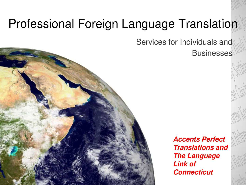Professional Foreign Language Translation