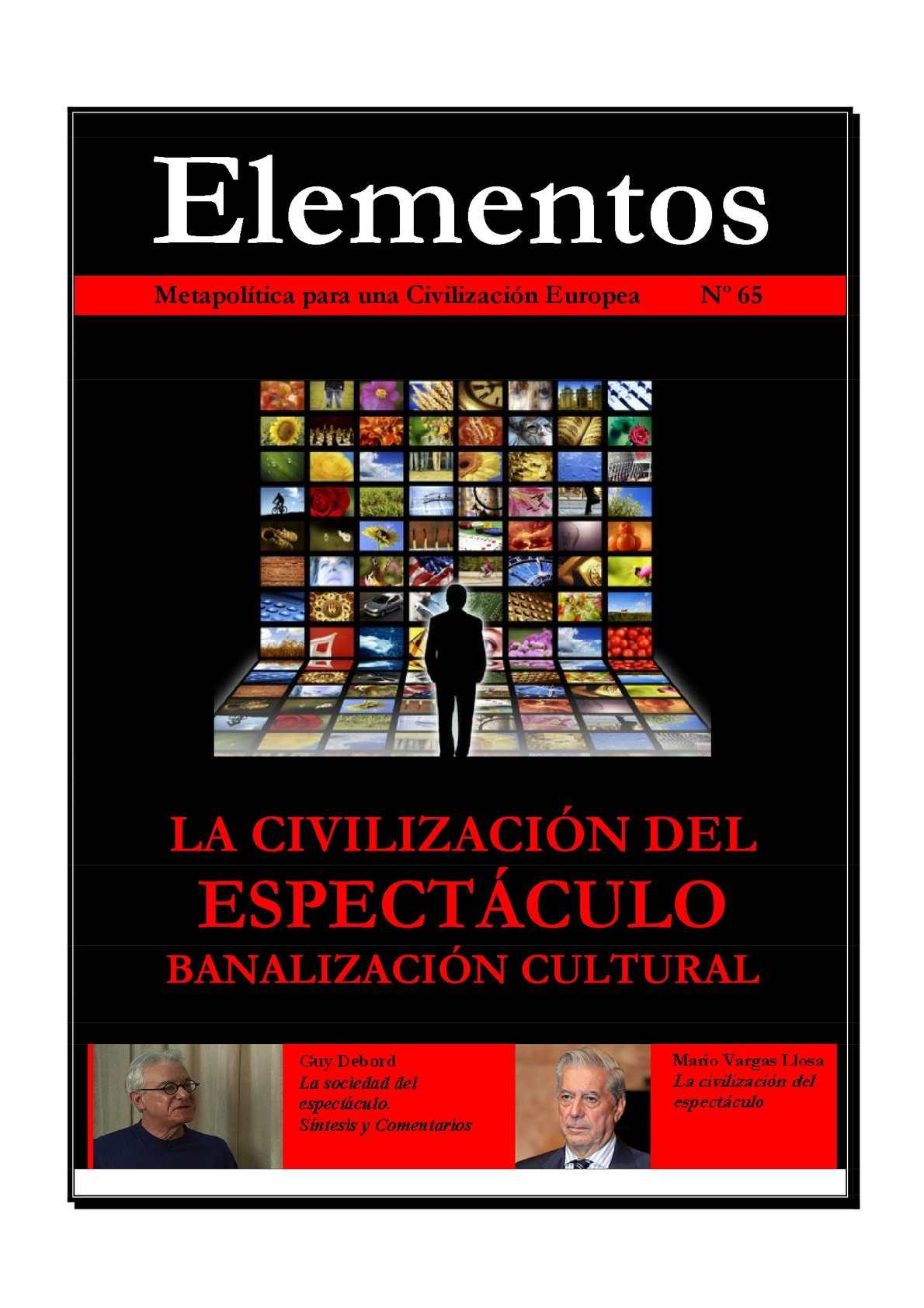 Elementos 65 : La civilización del espectáculo