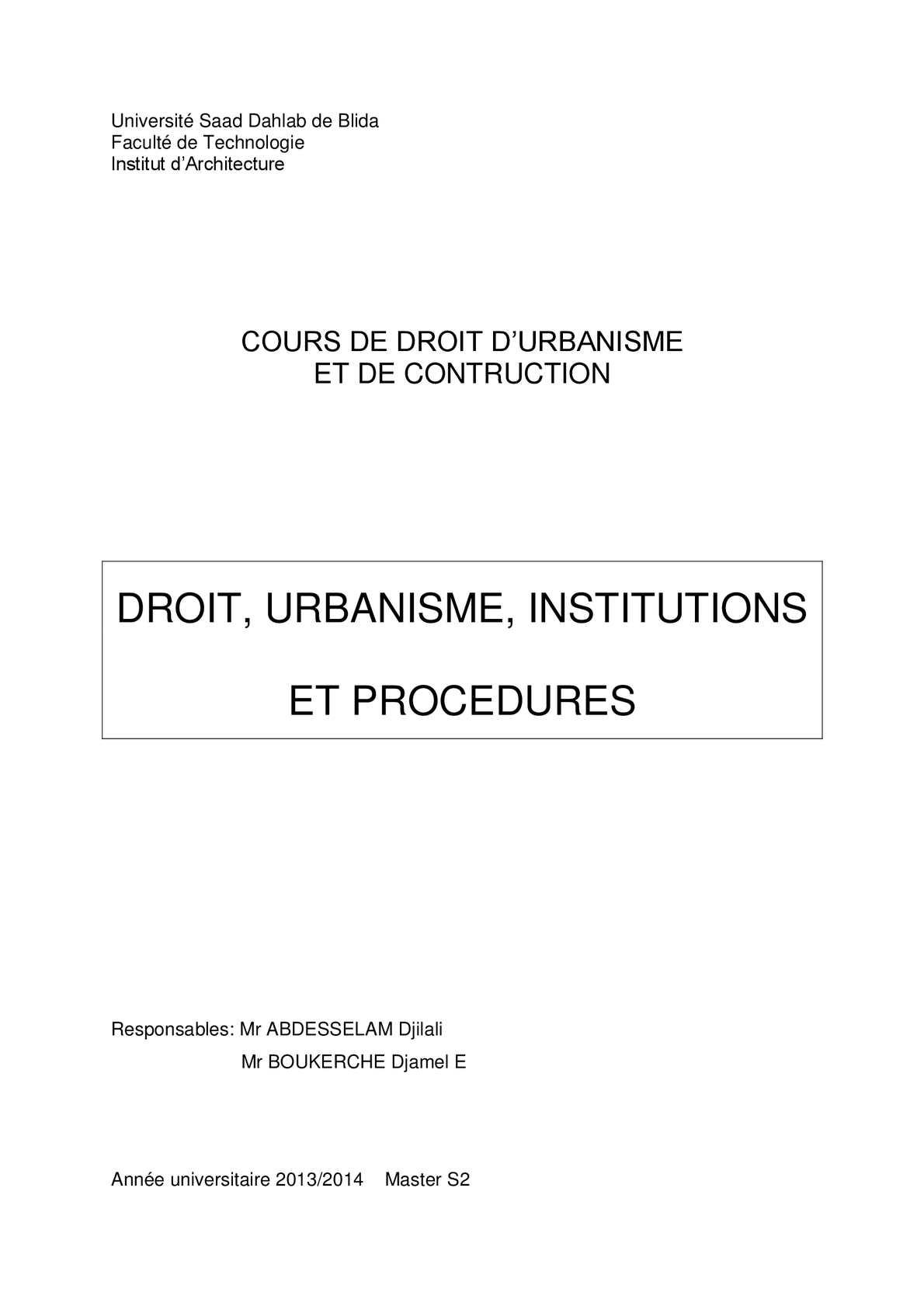 Calam o cours de droit d urbanisme et de contruction for Regle de l urbanisme