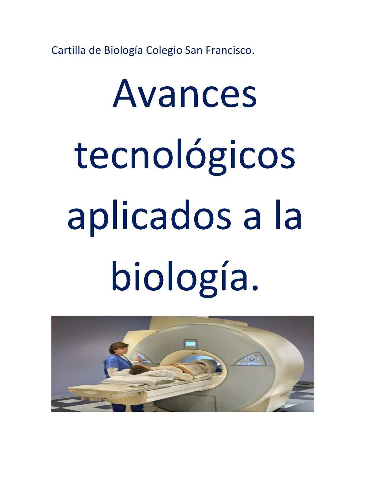 inventos tecnologicos de biologia
