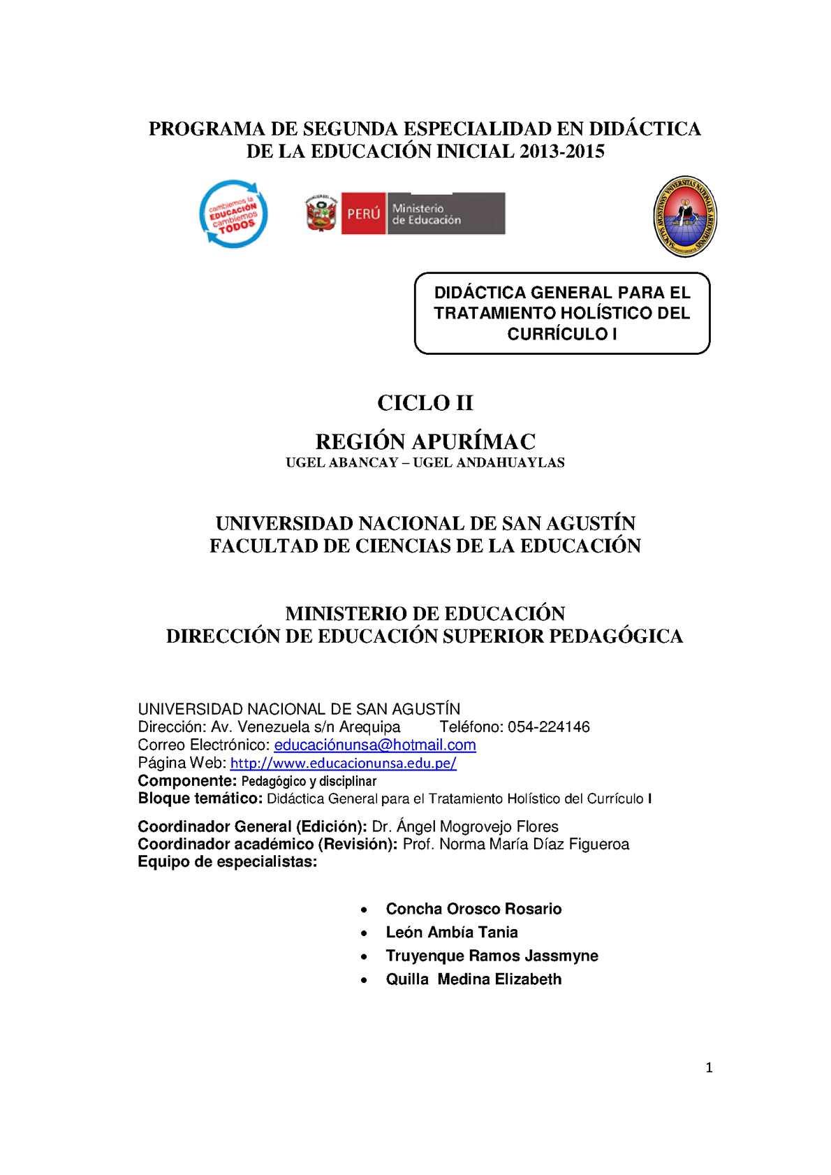 Calaméo - Didáctica General para el Tratamiento Holístico del ...